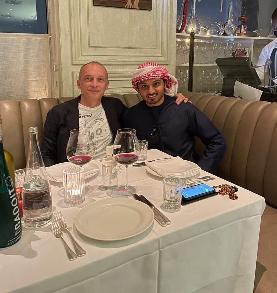 Kay Rieck und DR Hamadan al Ali